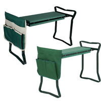 Foldable Kneeler Garden Kneeling Bench Stool Soft Cushion Seat Pad w Tool Pouch