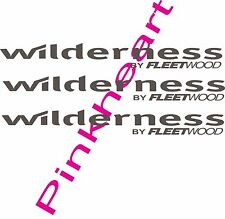 3- Wilderness Decal colors RV sticker decals large fleetwood trailer camper 27""