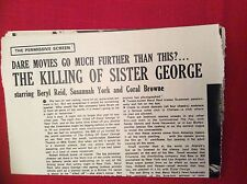 m12s ephemera 1969 picture film article the killing of sister george york reid