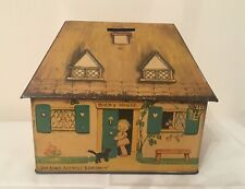 1930s Mabel Lucie Attwell Money Box Biscuit Tin Bicky House - William Crawford