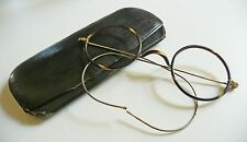 Antichi occhiali in celluloide antique round eyeglasses 1920s con custodia