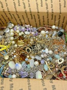 15 LB Jewelry Mixed Gold & Silver Tone Lot Wearable, Sellable, Craft
