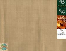 """Charles Craft Beige 14 Ct Aida XStitch Fabric / Cloth 20"""" x 24"""" #GD-1438-0700"""