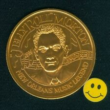 """"""" JELLY ROLL""""  MORTON - New Orleans Music Legend Mardi Gras Doubloon Token Coin"""