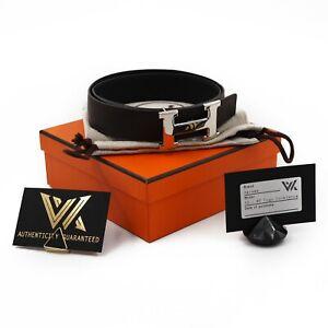 Hermès Constance - Togo 32 / 85 reversible Belt Luxus Leder Wendegürtel NP: 800€