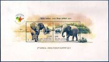 India 2011 MNH Miniatures Stamps 2nd Africa India Forum