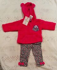 BNWT Duck Duck Goose Baby Girl Outfit 0-3 months Hooded Jumper and Leggings Owl