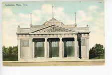 Auditorium PLANO Texas—Rare Antique PC Dallas—Collin County 1909
