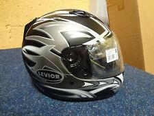 LEVIOR Motorradhelm Größe XL schwarz weiß grau gemustert