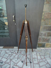 TRIPOD FLOOR LAMP STAND ANTIQUE WOOD ANTIQUE LAMP HOME AND DECOR FLOOR LAMP