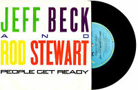 """JEFF BECK AND ROD STEWART - PEOPLE GET READY - 7"""" 45 VINYL RECORD 1985"""