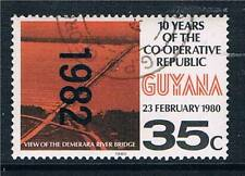 Guyana 1982 Overprint 35c Black & red orange SG 1001 USED