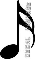 Semiquaver Music Sixteenth Note Vinyl Sticker Decal - Choose Size & Color