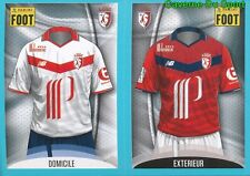 258-259 MAILLOT DOMICILE - MAILLOT EXTERIEUR LILLE.OSC STICKER FOOT 2017 PANINI