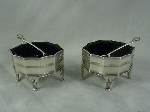 SMART pair, EDWARDIAN silver SALTS, 1908