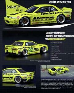 INNO64 1:64 Pandem Rocket Bunny Nissan Silvia S13 V2 Yellow