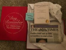 The Times October 31 2008 Bitcoin Whitepaper Dated Newspaper Collectible BTC