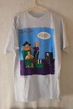 Vintage 90's Pete & Clete Sports Humor Medium T- Shirt 100% Cotton Grey