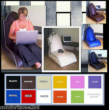 ZIPPY FAUX LEATHER BEANBAG COMPUTER GAME OFFICE CHAIR bean bag TV GAMING SEAT