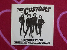 CUSTOMS Let's Get It On 45 rpm PICTURE SLEEVE ONLY Shake It 1979 POWER POP