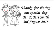 48 Wedding Stickers Labels Favours Sweet Bags Thank You Personalised Vintage