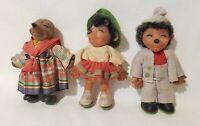 Vintage Steiff Mecki Hedgehog Doll Family Micki 1960s Germany