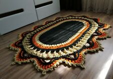 Handmade rug made of polyester cord