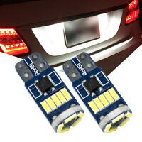2X T10 Super Bright LED White Side Light Wedge Bulbs 194 168 W5W Number Plate