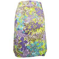 Talbots Petites Skirt size purple floral pencil