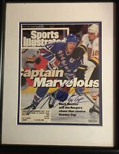 Mark Messier Autographed Sports Illustrated Captain Marvelous. COA Steiner