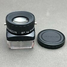 HORIZON Lupe x8 Magnifier by KMZ- for slides, negatives, stamps etc.