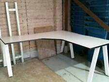 Workstation - L shaped with trestle legs