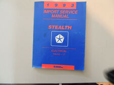 Electrical Service Manual Officina Manuale Dodge Stealth 1993