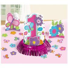 SWEET 1st Compleanno Ragazza Tavolo Decorazione Kit festa di Compleanno Centro Tavola Confetti