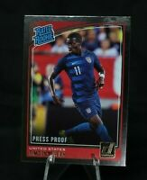 🔥⚽️  2018-19 Donruss Soccer Press Proof SILVER #198 Timothy Weah USA Rookie