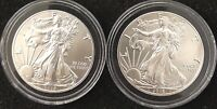 2 BEAUTIFUL 2016 SILVER EAGLES, UNCIRCULATED Fresh From Newly Opened Roll