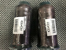 Lot Of 2 Pc Sewing Thread Cones 100% Spun Polyester Coco Brown