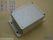"US Stock 1pcs Plastic Project Box Case Electronic 4.528""x3.543""x2.165"" Ear"