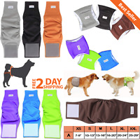 Male Dog Diapers Reusable Washable Belly Band Waterproof Waist Pee Dog Protector