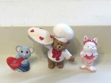 1989 Hallmark Merry Miniatures Valentines Day Lot of 3 Ballerina Baker Mouse