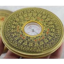 10cm Dai BAGUA COMPASS Metal Chinese Feng Shui Lo Luo Pan Chi Ying Yang Luck O