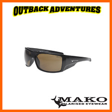 Mako Sunglasses Indestructible Shiny Black Frame Brown Polycarbonate Lens