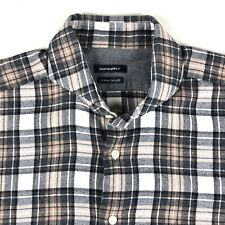Suitsupply mens Luxury shirt L/S Size 40 - 15 3/4 Cotton 2ply Plaid Canclini