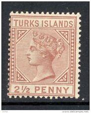 TURKS ISLANDS, 1882 2½d red-brown very fine MM, cat £40 (D)