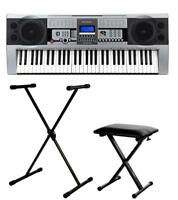 Piano Numerique E-Piano Clavier 61 Touches 100 Sons LCD Support Banc Set