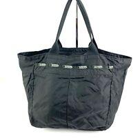 Lesportsac Black Everyday Tote Bag Nylon Lightweight Handbag Purse Zipper