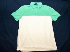 J.Lindeberg Golf Men's XL Polo white/teal