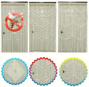 Wooden Beaded Bamboo Door Curtain Blind Fly Mosquito Bug Privacy Screen 90X180CM