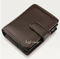 Small Purse Soft Leather Brown Visconti Compact Wallet New in Gift Box HT31
