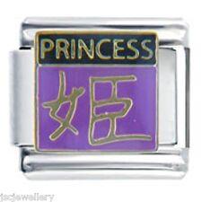 CHINESE SYMBOL PRINCESS - Daisy by JSC Fits Classic Size Italian Charm Bracelet